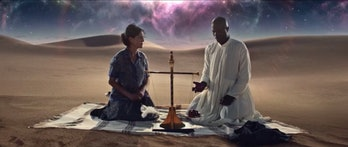 Anubis weighs a heart against a feather on 'American Gods'