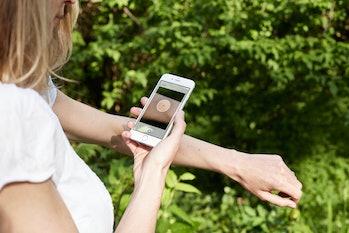 Skin Scan App in use