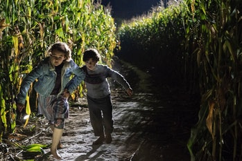 Millicent Simmonds andNoah Jupe play siblings Regan and Marcus Abbott in 'A Quiet Place'.