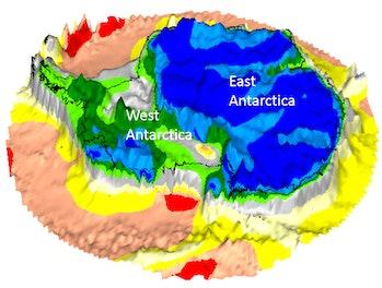 antarctica gravity map