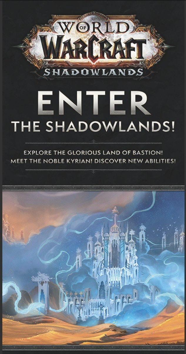 world of warcraft shadowlands leak blizzcon 2019