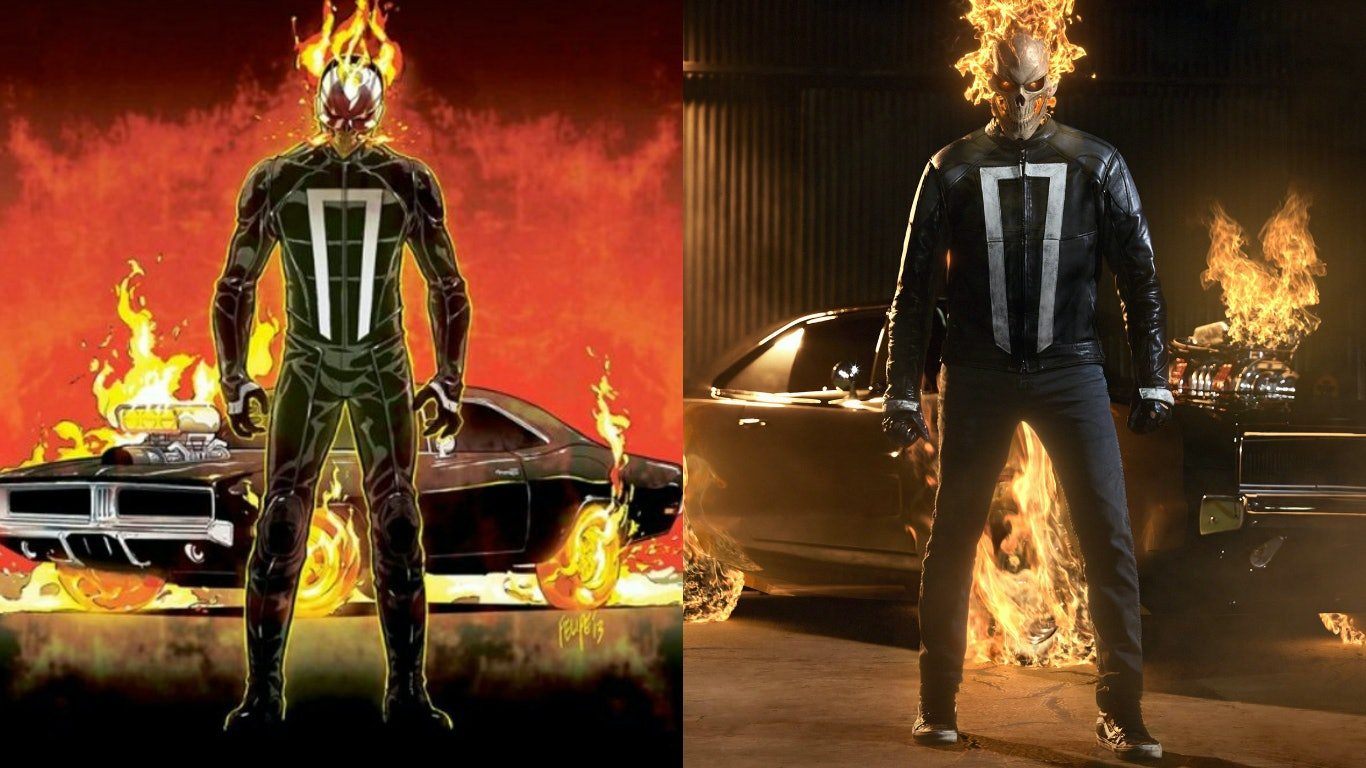 Agents Of Shield Keeps Ghost Rider S Costume Comics Accurate