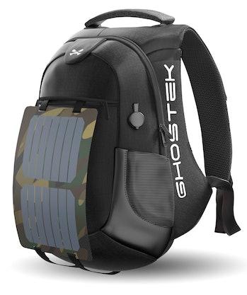 Ghostek NRGsolar Series 40L Eco Computer Laptop Messenger Backpack Book Bag + 16,000mAh Power Bank w...