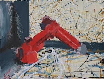 Jackson Pollock Robotic Art Competition A.I. Paint