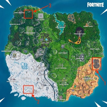 fortnite race track locations