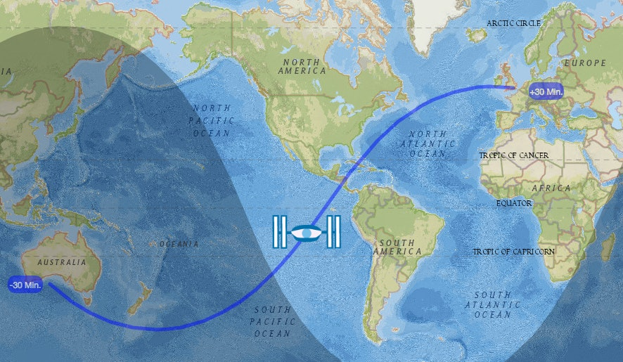 Where in the world is the ISS?