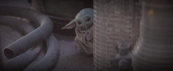 Baby Yoda hams it up for the camera in 'The Mandalorian' Episode 5.