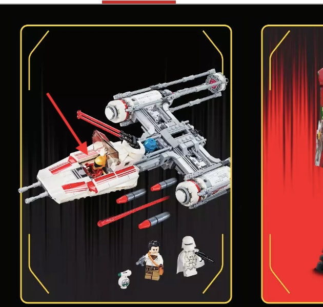 An upcoming new Y-wing toy with Zorri Bliss in the cockpit.