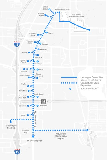 The planned route for the tunnel.