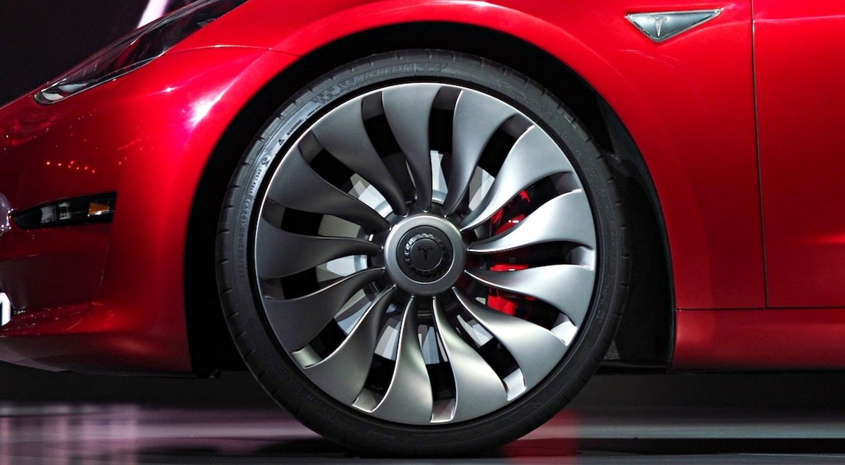 Tesla Model 3 wheels.