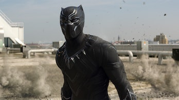 Black Panther as he appeared in 'Civil War'.