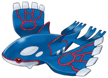 Kyogre knows how to have a whale of a good time.