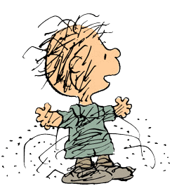 Pig-Pen, the 'Peanuts' character, is known for his own personal cloud.