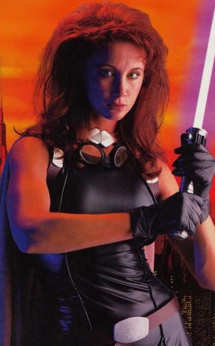Shannon McRandleas Mara Jade in theStar WarsCustomizable Card Game.