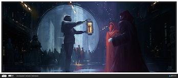 palpatine luke skywalker hand