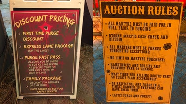 'The Purge' Carnival of Flesh signs and rules
