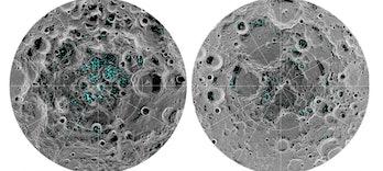 Moon, ice