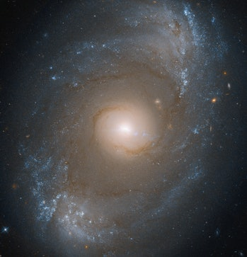 A spiral galaxy powered by a black hole.