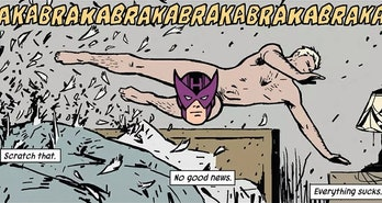 Hawkeye vol. 4 written by Matt Fraction, drawn by David Aja, Annie Wu