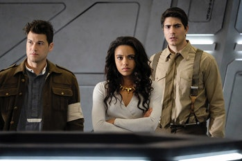 Nick Zano, Maisie Richardson-Sellers, and Brandon Routh in 'DC's Legends of Tomorrow'
