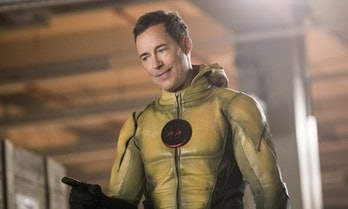 Reverse-Flash survived somehow and for some reason wears a Wells face again.