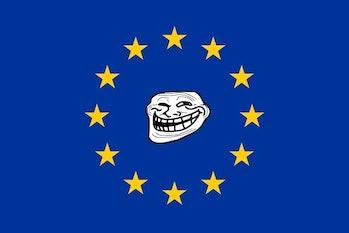 eu european union memes troll flag