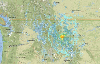 interactive map montana earthquake