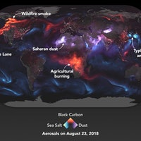 NASA Map Reveals How This Week's Natural Disasters Affect Aerosol Velocity