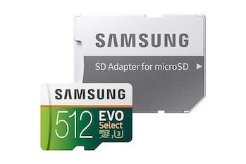 Samsung 512GB 100MB/s (U3) MicroSD Evo Select Memory Card with Adapter (MB-ME512GA/AM)