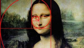 mona lisa golden ratio fibonacci spiral