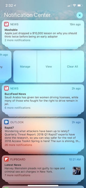 ios 12 stacked notifications