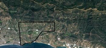 montecito santa barbara county evacuation zone