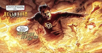 Daimon Hellstrom, as seen in Marvel comics