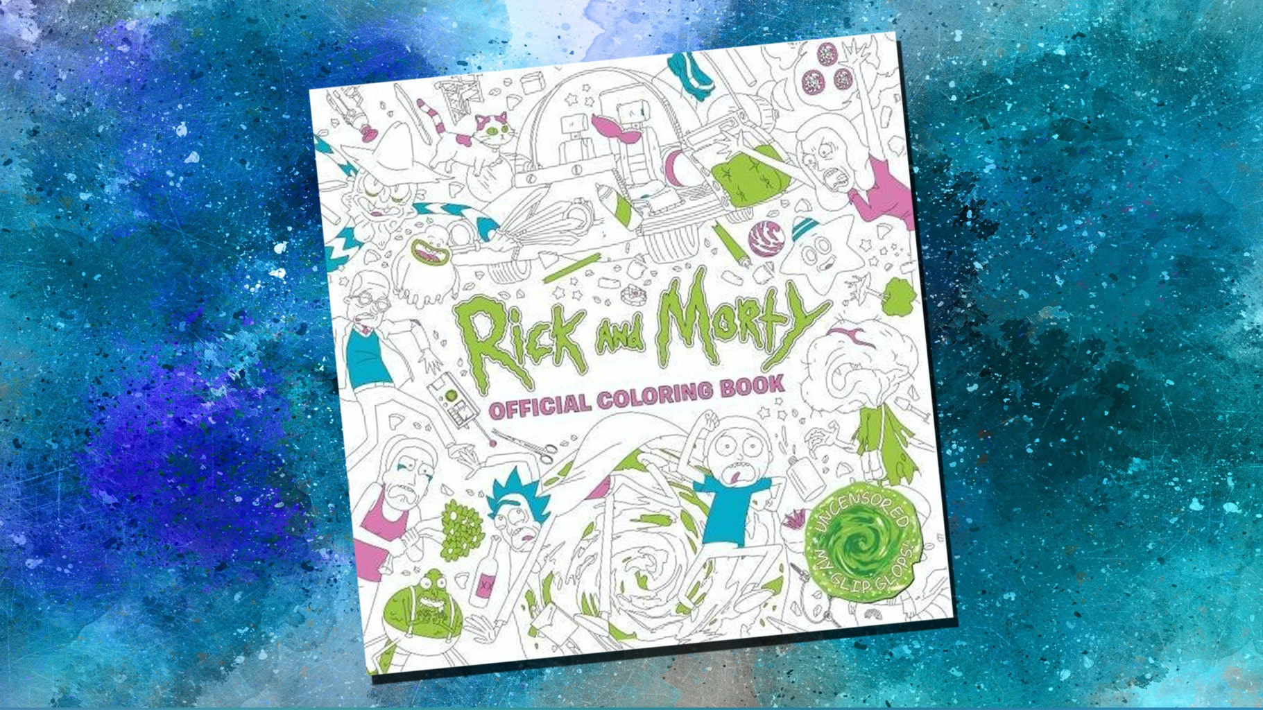 Get schwifty with this coloring book, broh.