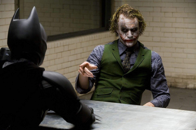 Heath Ledger as the Joker in 'The Dark Knight'
