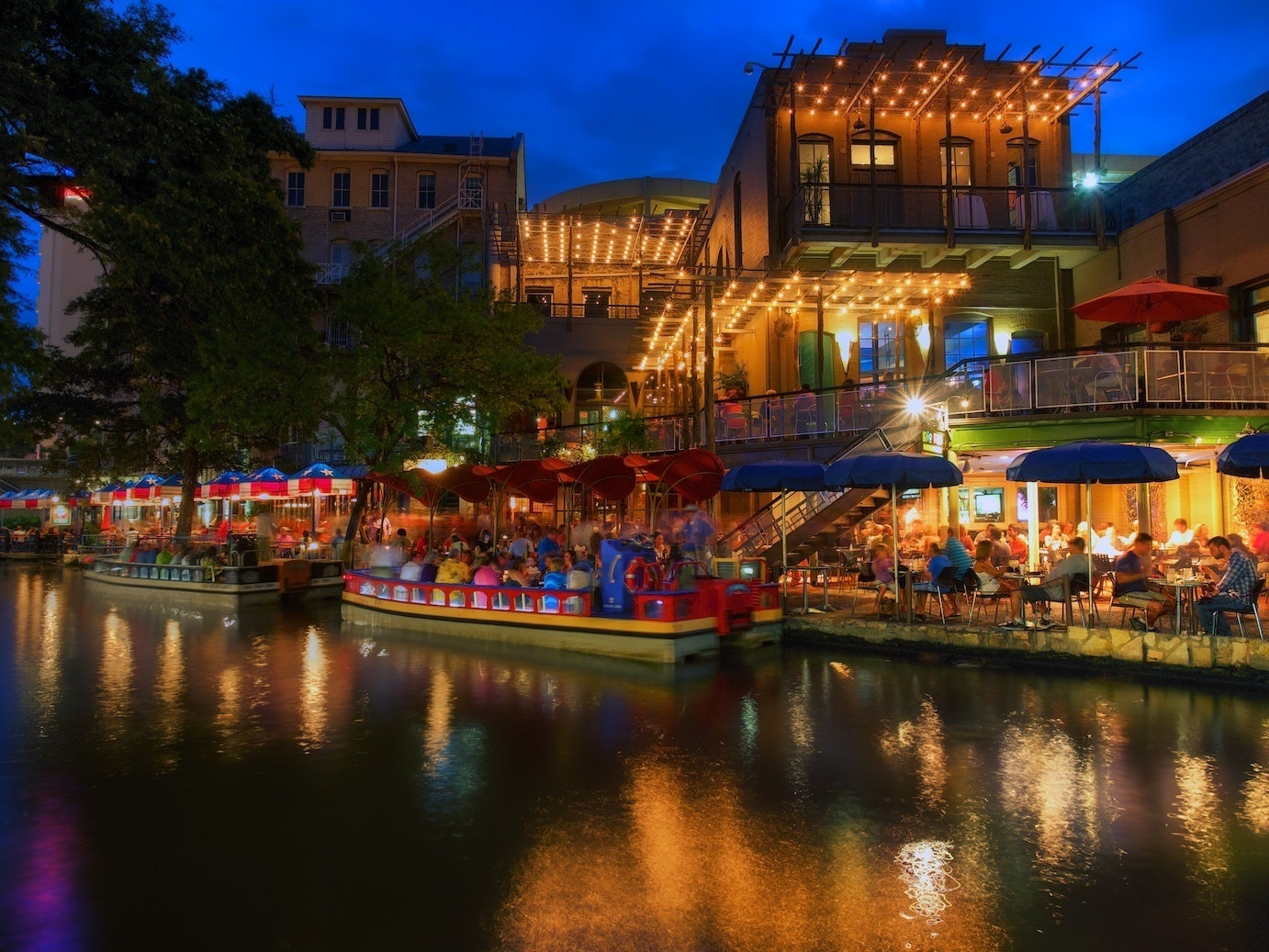 San Antonio Riverwalk blue hour