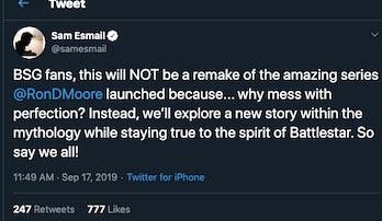 Esmail's tweet