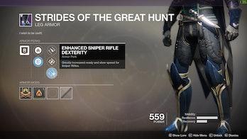 destiny 2 enhanced sniper rifle dexterity