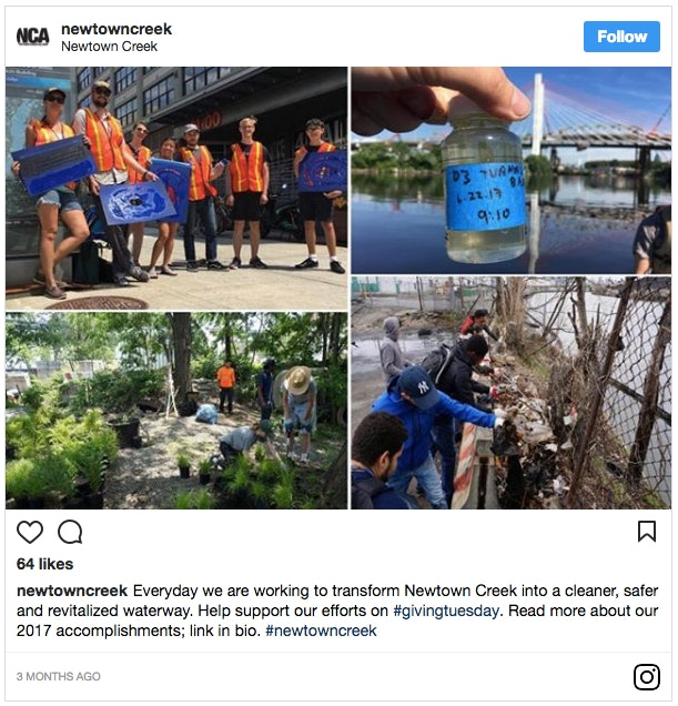 Newton Creek Instagram