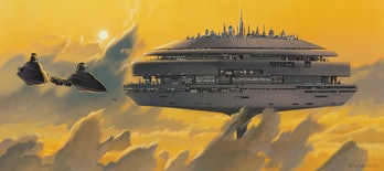 """McQuarrie's""""Cloud City"""", completed in January 1978."""