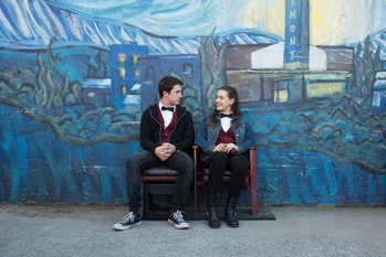 Dylan Minnetteand Katherine Langford in '13 Reasons Why'