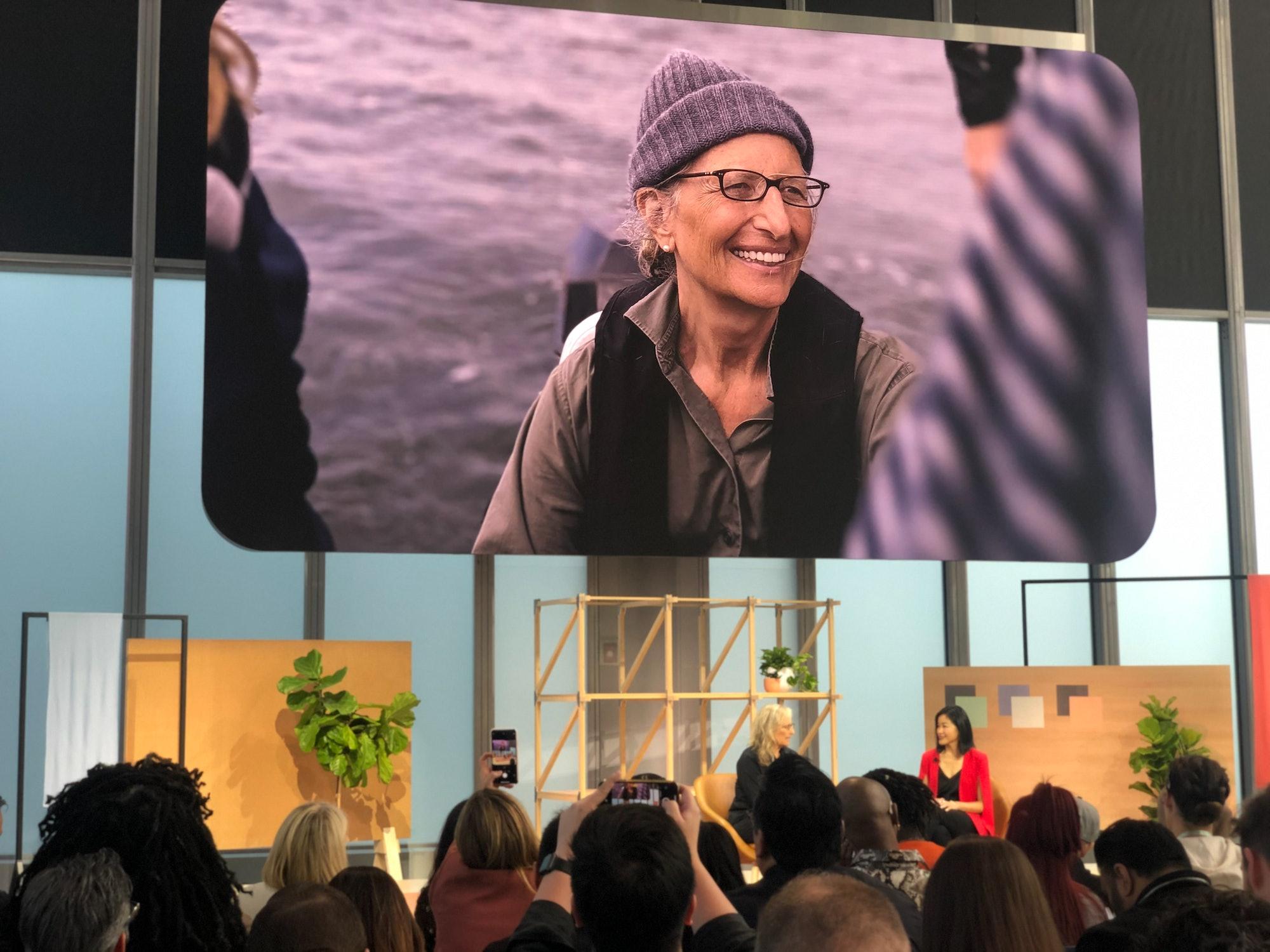 Annie Leibovitz at Google's Pixel 4 event