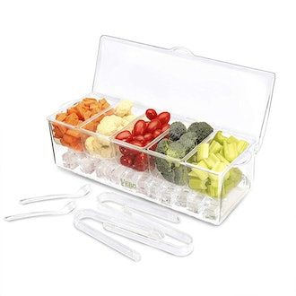 The Ice Chilled 5 Compartment Condiment Server Caddy