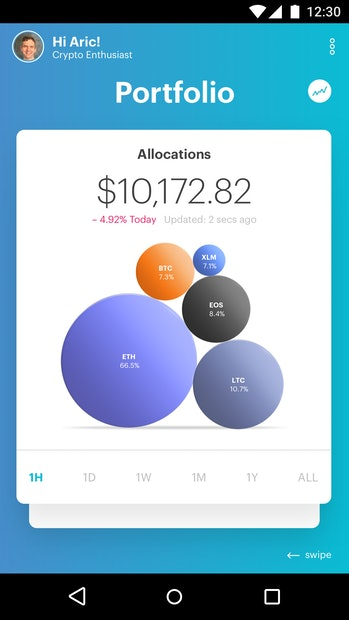 Portfolio allocation screen.