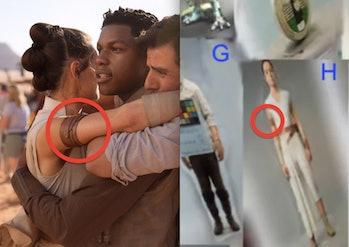 Rey behind the scenes of 'Star Wars: Episode IX.'