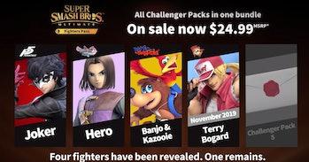 nintendo super smash bros DLC fighters