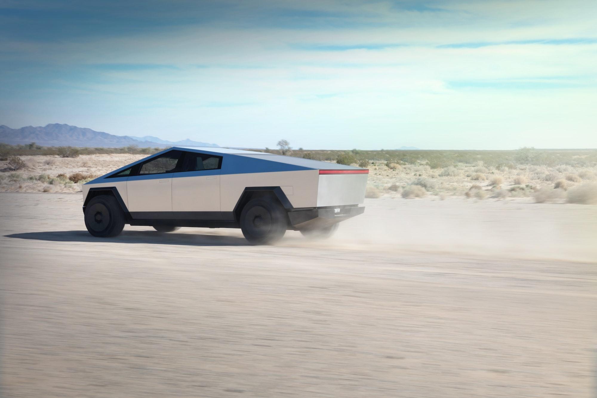 Tesla Cybertruck rear.
