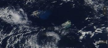 volcano pumice coral reef Great Barrier Reef