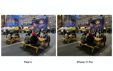 Pixel 4 low-light comparison vs. iPhone 11 Pro