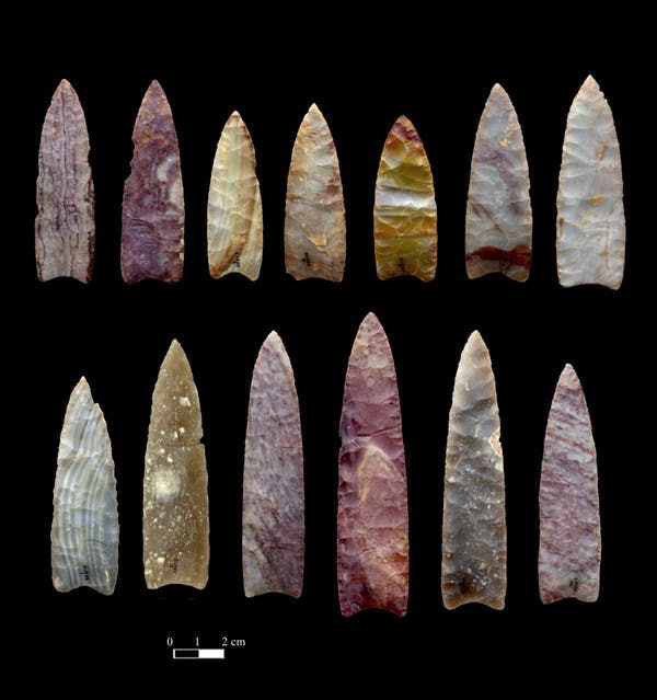13,000-year-old spear points from Colorado.